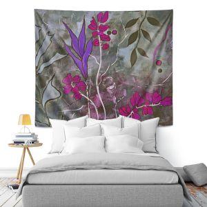 Artistic Wall Tapestry   Ruth Palmer Fuschia Nights