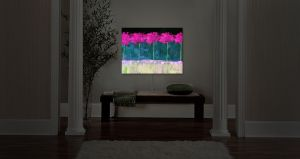 Unique Illuminated Wall Art 30 x 23 from DiaNoche Designs by Ruth Palmer - Fushia Trees