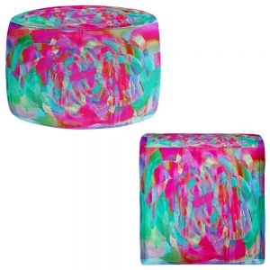 Round and Square Ottoman Foot Stools | Ruth Palmer - Hot Pink Chards