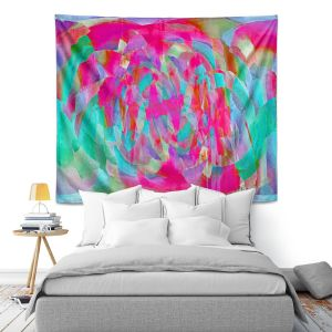 Artistic Wall Tapestry | Ruth Palmer Hot Pink Chards