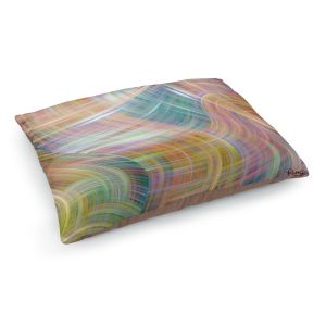Decorative Dog Pet Beds | Ruth Palmer - Lazy Breezy Day I | Abstract wave shapes
