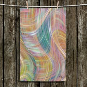 Unique Bathroom Towels | Ruth Palmer - Lazy Breezy Day I | Abstract wave shapes