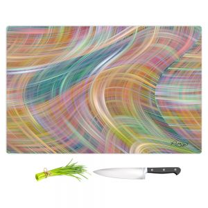 Artistic Kitchen Bar Cutting Boards | Ruth Palmer - Lazy Breezy Day II | Abstract wave shapes