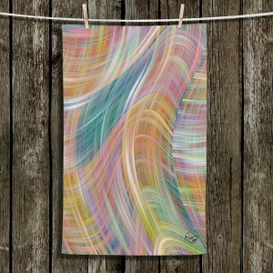 Unique Hanging Tea Towels | Ruth Palmer - Lazy Breezy Day II | Abstract wave shapes