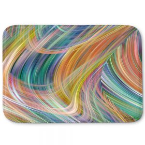 Decorative Bathroom Mats | Ruth Palmer - Lazy Breezy Day IV | Abstract wave shapes