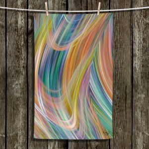 Unique Hanging Tea Towels | Ruth Palmer - Lazy Breezy Day IV | Abstract wave shapes