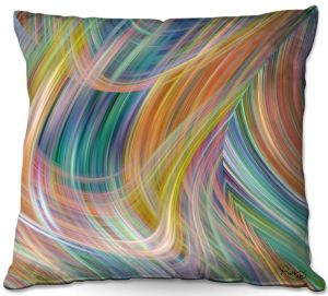 Throw Pillows Decorative Artistic | Ruth Palmer - Lazy Breezy Day IV | Abstract wave shapes