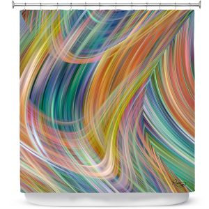 Premium Shower Curtains | Ruth Palmer - Lazy Breezy Day IV | Abstract wave shapes