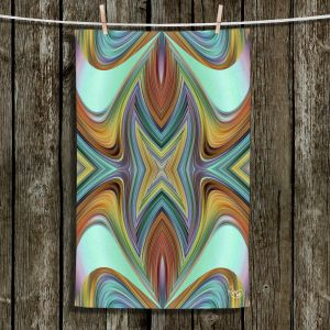Unique Hanging Tea Towels | Ruth Palmer - Line Blend II | Abstract wave shapes