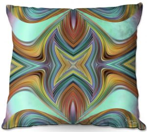 Decorative Outdoor Patio Pillow Cushion | Ruth Palmer - Line Blend II | Abstract wave shapes