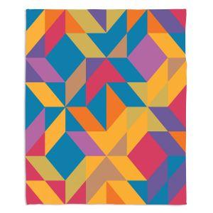 Decorative Fleece Throw Blankets | Ruth Palmer - Mixed Bag | Pattern Geometric