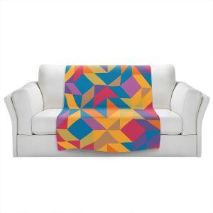 Artistic Sherpa Pile Blankets | Ruth Palmer - Mixed Bag | Pattern Geometric