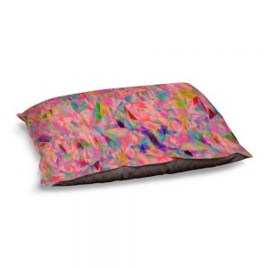 Decorative Dog Pet Beds | Ruth Palmer - Mixed Pinks Color 50 | Abstract Pattern