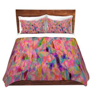 Artistic Duvet Covers and Shams Bedding | Ruth Palmer - Mixed Pinks Color 50 | Abstract Pattern