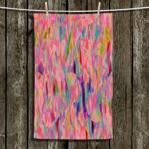 Unique Bathroom Towels | Ruth Palmer - Mixed Pinks Color 50 | Abstract Pattern