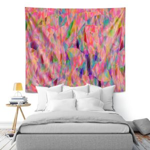 Artistic Wall Tapestry | Ruth Palmer - Mixed Pinks Color 50 | Abstract Pattern