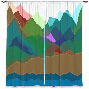 Decorative Window Treatments   Ruth Palmer - Mountain Multi   Abstract Landscape Lakes Mountains