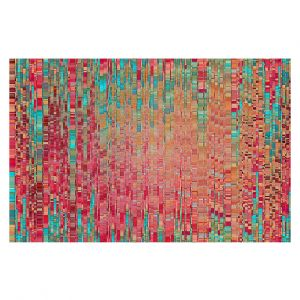 Decorative Floor Covering Mats | Ruth Palmer - Multitude | Squares cube abstract pattern pixel stripes lines