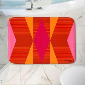 Decorative Bathroom Mats | Ruth Palmer - Orange Pink and Yellow VI | Pattern minimalist stripe