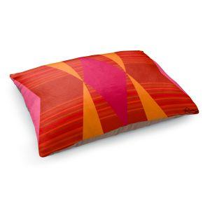 Decorative Dog Pet Beds | Ruth Palmer - Orange Pink and Yellow VI | Pattern minimalist stripe