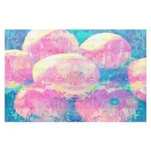 Decorative Floor Covering Mats   Ruth Palmer - Pink Oranges Splash   Geometric Abstract