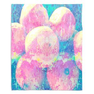 Decorative Fleece Throw Blankets | Ruth Palmer - Pink Oranges Splash | Geometric Abstract