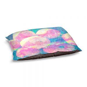 Decorative Dog Pet Beds   Ruth Palmer - Pink Oranges Splash   Geometric Abstract