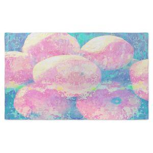 Artistic Pashmina Scarf | Ruth Palmer - Pink Oranges Splash | Geometric Abstract