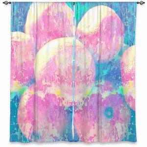 Decorative Window Treatments | Ruth Palmer - Pink Oranges Splash | Geometric Abstract