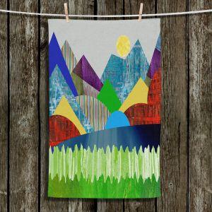 Unique Bathroom Towels | Ruth Palmer - Serene Lake | Landscape Sun Mountains Lakes Forest