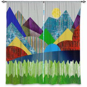 Decorative Window Treatments | Ruth Palmer - Serene Lake | Landscape Sun Mountains Lakes Forest