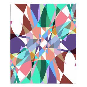 Decorative Fleece Throw Blankets | Ruth Palmer - Shape Pinch | Geometric Abstract