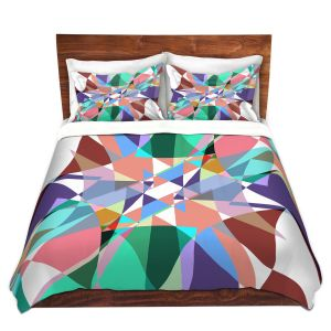 Artistic Duvet Covers and Shams Bedding   Ruth Palmer - Shape Pinch   Geometric Abstract