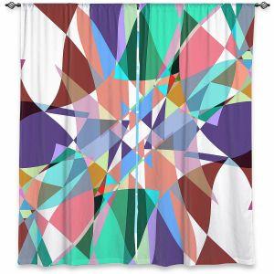 Decorative Window Treatments | Ruth Palmer - Shape Pinch | Geometric Abstract