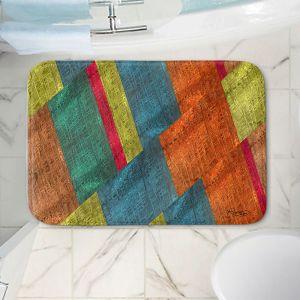Decorative Bathroom Mats | Ruth Palmer - Sheared Grid | Abstract stripes geometric rocks