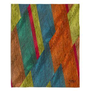 Artistic Sherpa Pile Blankets | Ruth Palmer - Sheared Grid | Abstract stripes geometric rocks