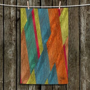 Unique Hanging Tea Towels | Ruth Palmer - Sheared Grid | Abstract stripes geometric rocks
