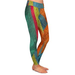 Casual Comfortable Leggings | Ruth Palmer - Sheared Grid | Abstract stripes geometric rocks