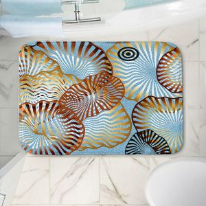 Decorative Bathroom Mats | Ruth Palmer - Swirling Blue | Circles shapes abstract ocean water