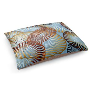 Decorative Dog Pet Beds | Ruth Palmer - Swirling Blue | Circles shapes abstract ocean water