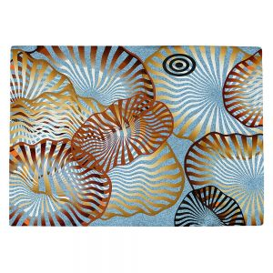 Decorative Kitchen Placemats 18x13 from DiaNoche Designs by Ruth Palmer - Swirling Blue