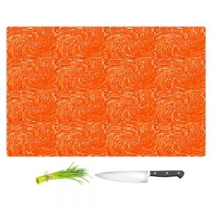Artistic Kitchen Bar Cutting Boards | Ruth Palmer - Swirling Orange Squares | Circles shapes repetition pattern