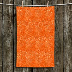 Unique Bathroom Towels | Ruth Palmer - Swirling Orange Squares | Circles shapes repetition pattern