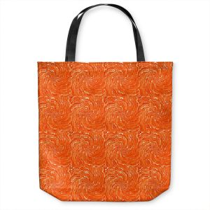 Unique Shoulder Bag Tote Bags | Ruth Palmer - Swirling Orange Squares | Circles shapes repetition pattern