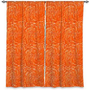 Decorative Window Treatments | Ruth Palmer - Swirling Orange Squares | Circles shapes repetition pattern