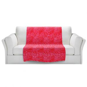 Artistic Sherpa Pile Blankets   Ruth Palmer - Swirling Pink Squares   Circles shapes repetition pattern