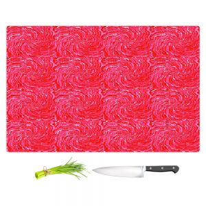 Artistic Kitchen Bar Cutting Boards | Ruth Palmer - Swirling Pink Squares | Circles shapes repetition pattern