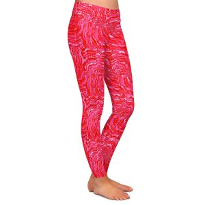 Casual Comfortable Leggings | Ruth Palmer - Swirling Pink Squares | Circles shapes repetition pattern