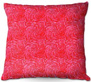 Decorative Outdoor Patio Pillow Cushion | Ruth Palmer - Swirling Pink Squares | Circles shapes repetition pattern
