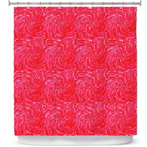 Premium Shower Curtains | Ruth Palmer - Swirling Pink Squares | Circles shapes repetition pattern